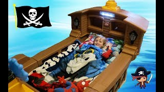 Logan's New Pirate Ship Bed!!!