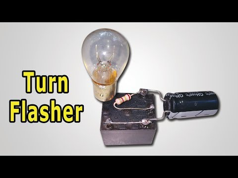 How To Make Turn Indicator Light Flasher/ Turn Signal Flasher