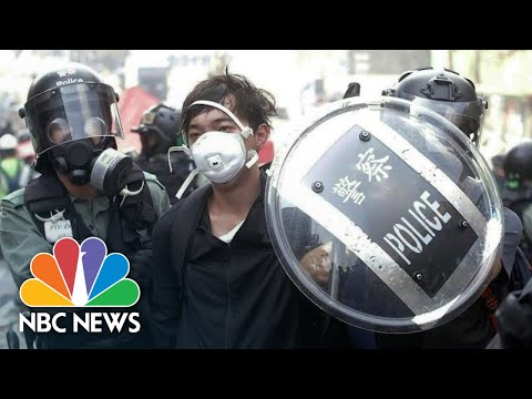 Police Clash Violently With Protesters At Hong Kong University Blockade | NBC News