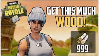 *Easy!* FORTNITE 🌲 How to get *UNLIMITED WOOD* EASY 999 Wood In 1 minute! 🌲 Patch 2.4.0
