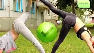 Hot Yoga Challenge easy - Yoga Challenge hot 2018 | EXTREME YOGA CHALLENGE WITH GIRLFRIEND-2018