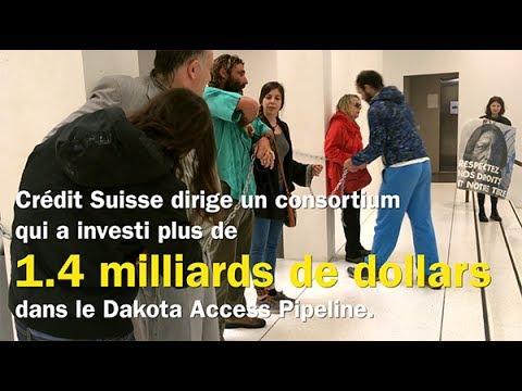 Les water protectors de Standing Rock au Crédit Suisse