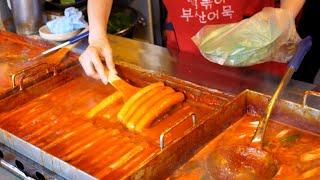 개포동에서 유명한 가래떡 왕떡볶이 / king Tteokbokki, spicy rice cake / Korean street food