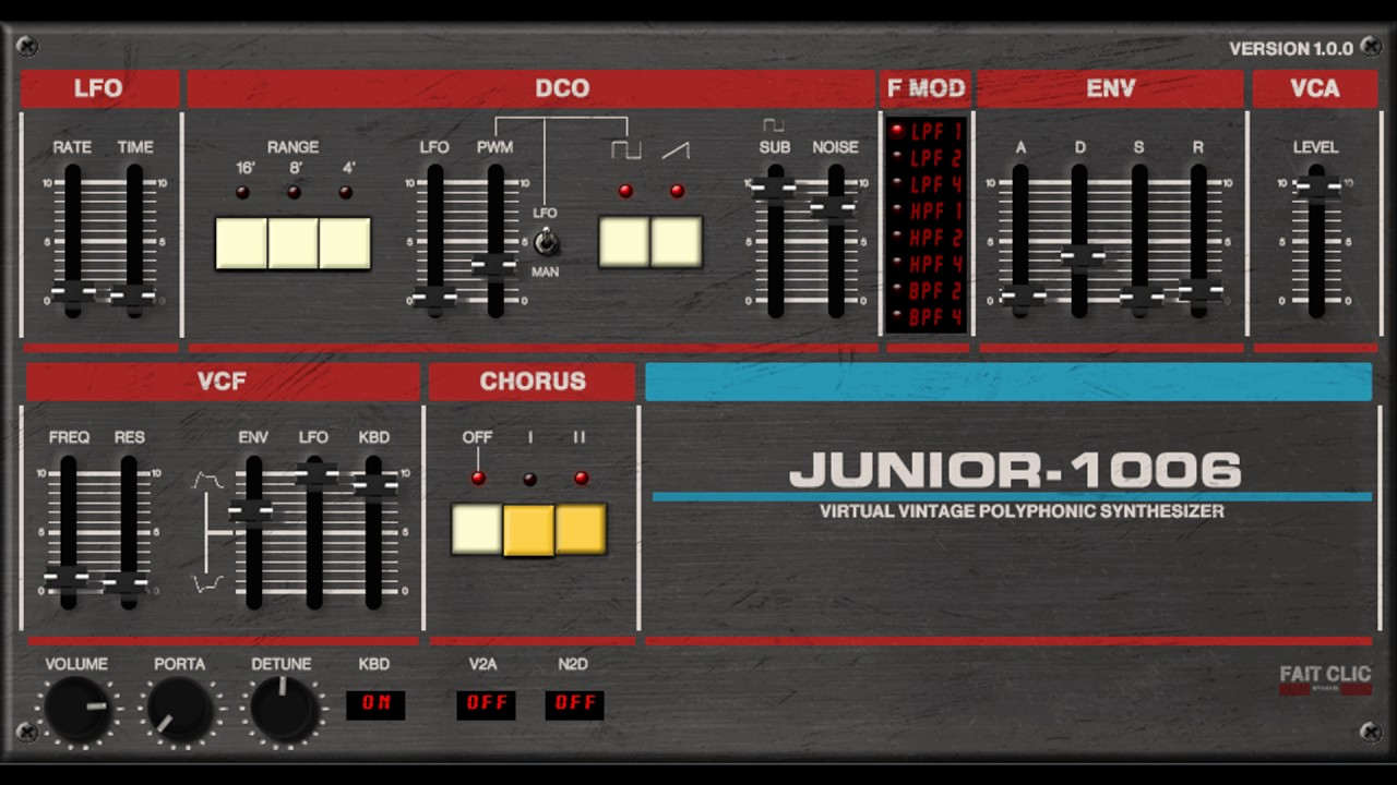Roland Juno 106 VST Emulation