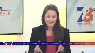 Yvelines | Ce qu'il faut retenir des annonces d'Emmanuel Macron et du gouvernement