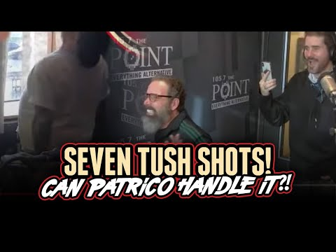 Patrico takes SEVEN shots to the TUSH!