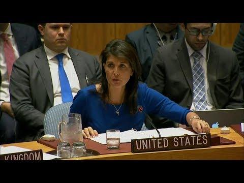 U.S. Ambassador to the UN Nikki Haley Regarding Strikes on Syria