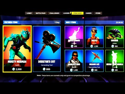 NEW LEGENDARY SKIN *MOISTY MERMAN* ! Fortnite ITEM SHOP May 24! NEW Featured items and Daily items!