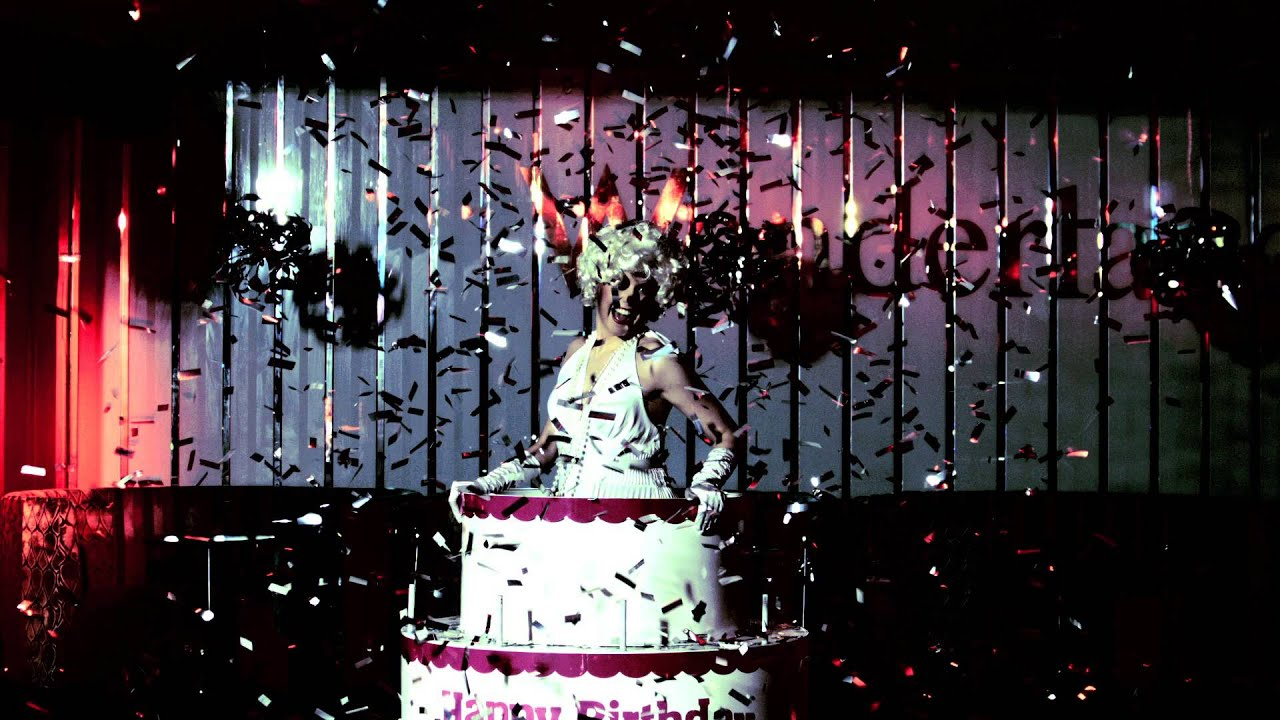 Birthday Gifs Woman Popping Out Of A Cake