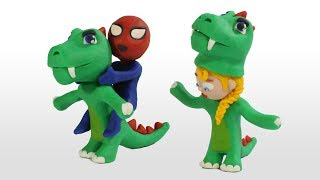 Diana and her friend dress up as dinosaurs 💗 Cartoons For Kids