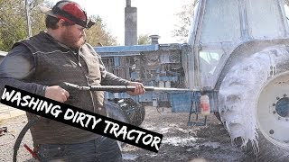 Pressure Washing Our OLD abandoned $700 Tractor its Absolutely Filthy