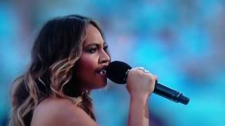 Jessica Mauboy sings at 2016 NRL GRAND FINAL