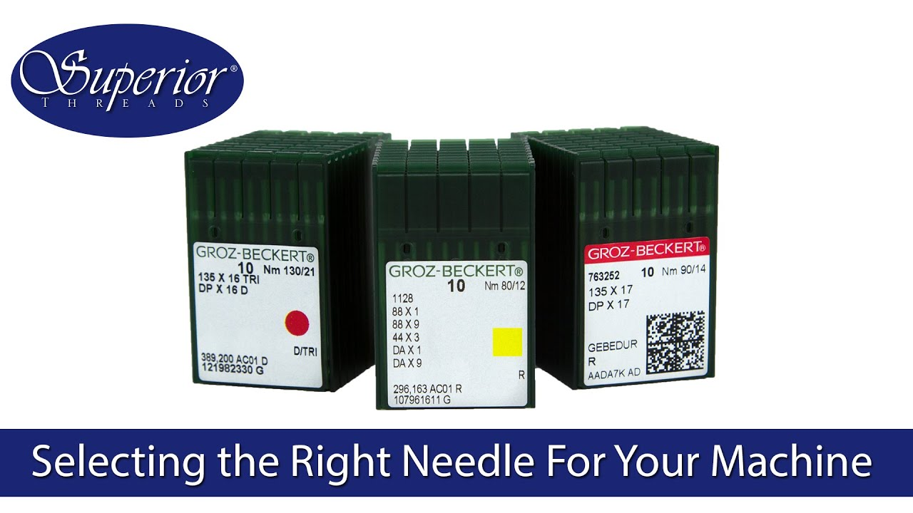 Selecting the right needle for your industrial commercial sewing machine also rh youtube