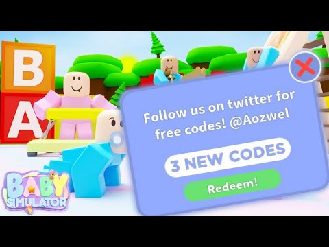 3 New Codes Baby Simulator Roblox Youtube