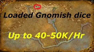 wow 6 2 2 up to 40 50k gold per hour loaded gnomish dice pick pocket gold farming guide wod