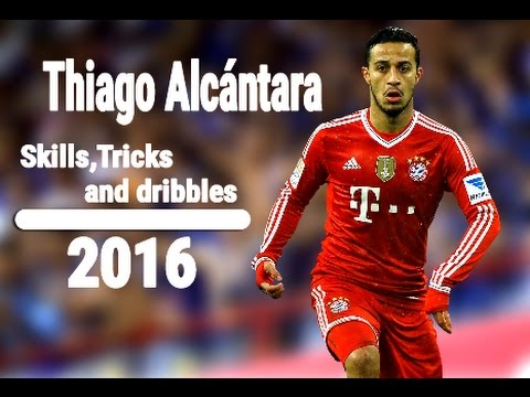 Thiago Alcántara|Skills & dribbling|2016 HD