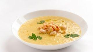 Кукурузный суп с креветкой и кокосовым молоком - видео рецепт Личный Повар