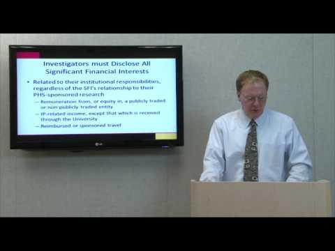 PHS Financial Conflict of Interest Regulations