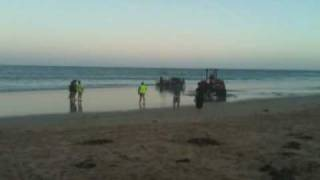 Bogged Ute, Boat Falling Off Trailer at Torquay Beach