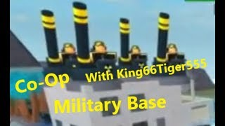 4 Mortars = OP | Roblox | Tower Battles | Military Base | Co-Op | With King66Tiger555