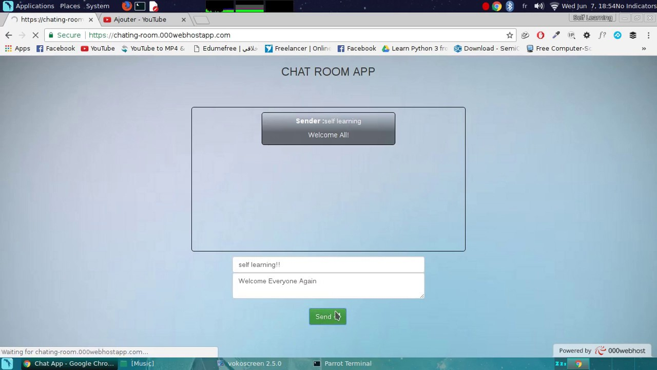 Chat Room Made With PHP & SQL
