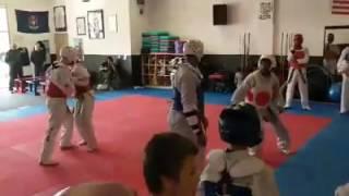 MST training at Kicks Taekwondo in Wayne Michigan on May 6th 2017 Sparring #1