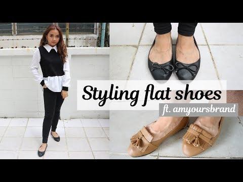 Styling ballet flat shoes ft. amyoursbrand | สไตล์ รองเท้าทรงบัลเล่ต์ 2 แบบ (With Sub)
