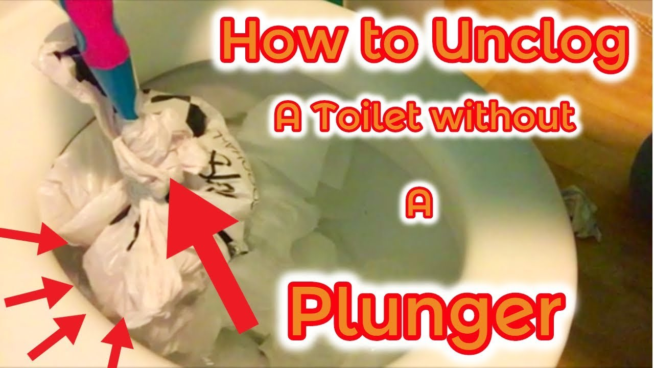 Unclog Toilet Without Plunger Super Easy - YouTube