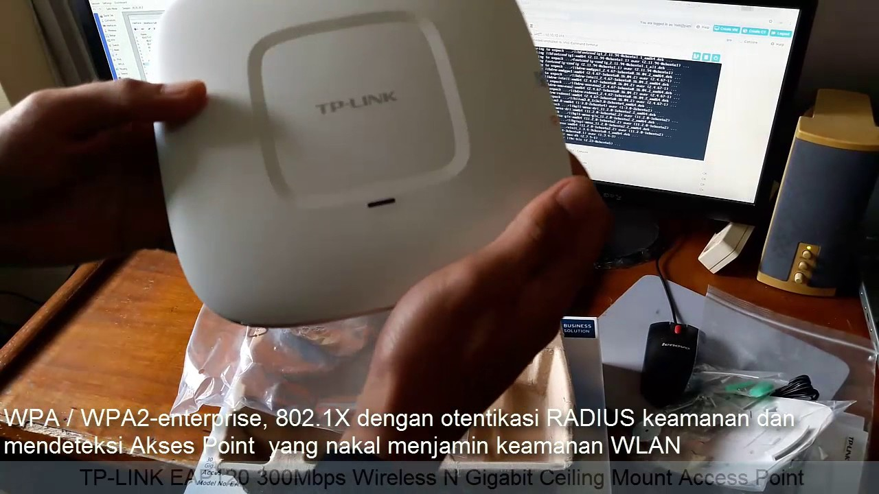 Unboxing Tp Link Ap Eap120 300mbps Wireless N Gigabit Ceiling Mount Access Point Eap 110 Youtube