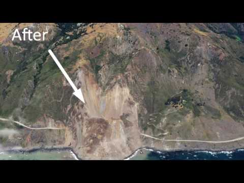 Landslide buries California's scenic highway in Big Sur