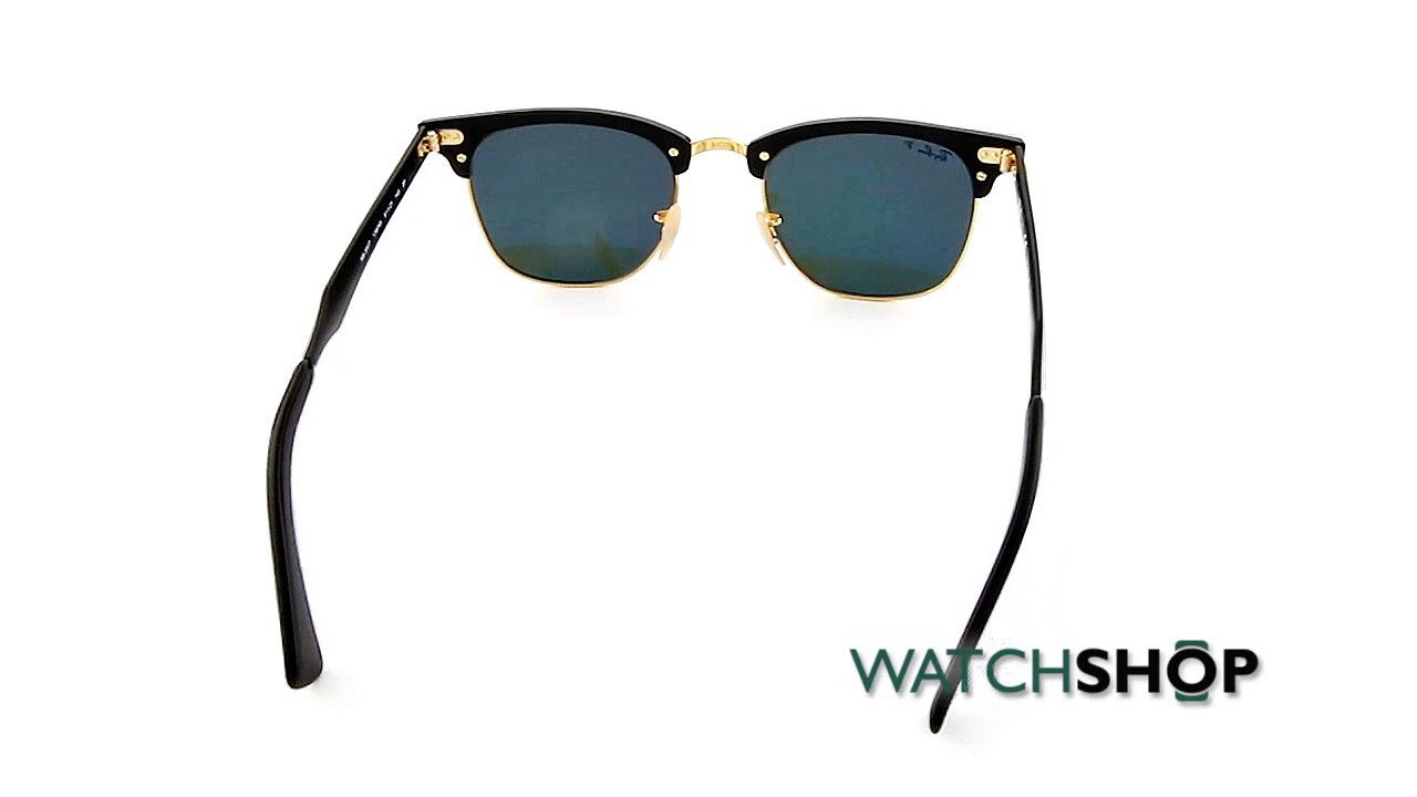 01d0ac8347 Ray-Ban Clubmaster Aluminium Sunglasses (RB3507-136 N5-51) - YouTube