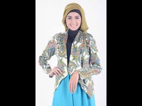 Model  Blazer Batik Wanita Muslimah Masa Kini Masa Kini