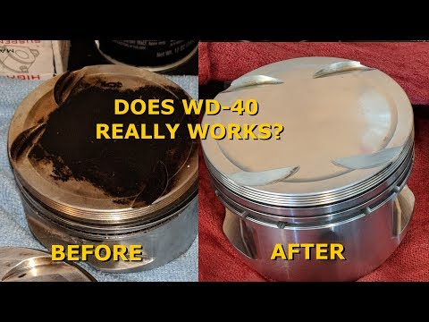 How to Clean JE Pistons with WD40 - #Eclipse2GBuild