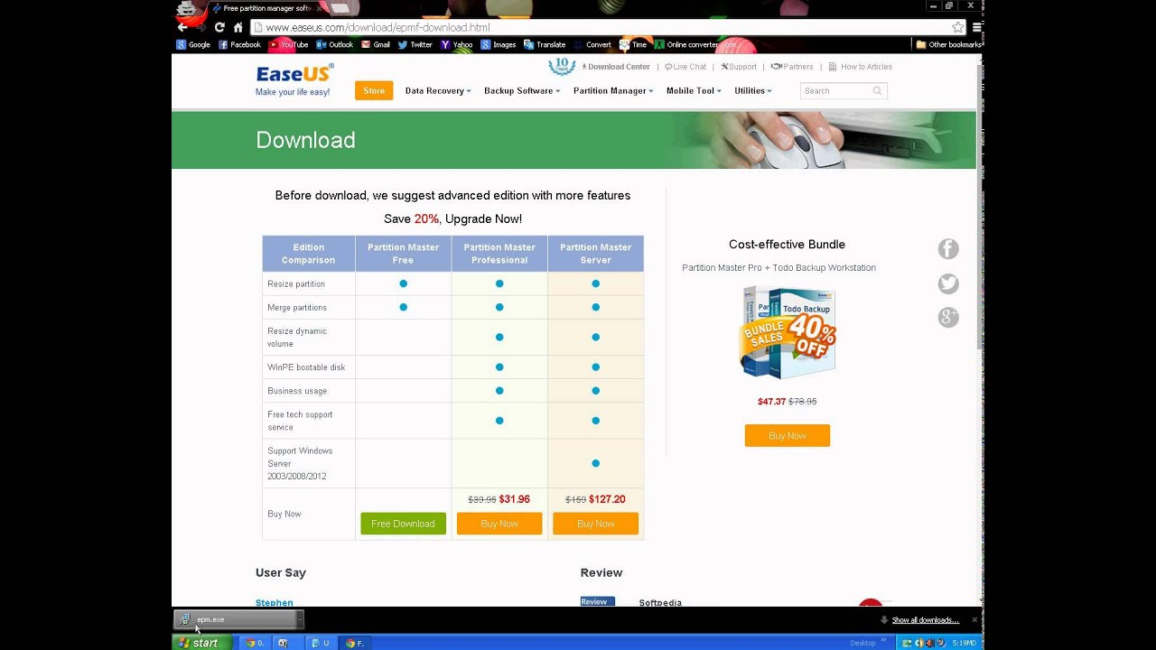 easeus partition master free full version download for windows 7