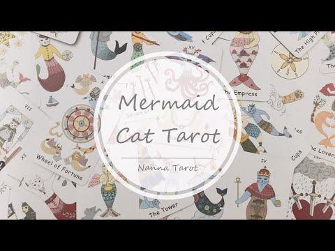 開箱  貓咪美人魚塔羅牌 • Mermaid Cat Tarot // Nanna Tarot