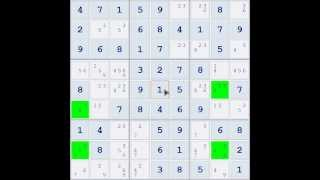 Sudoku Demonstration - Skyscraper Technique (Example 01)