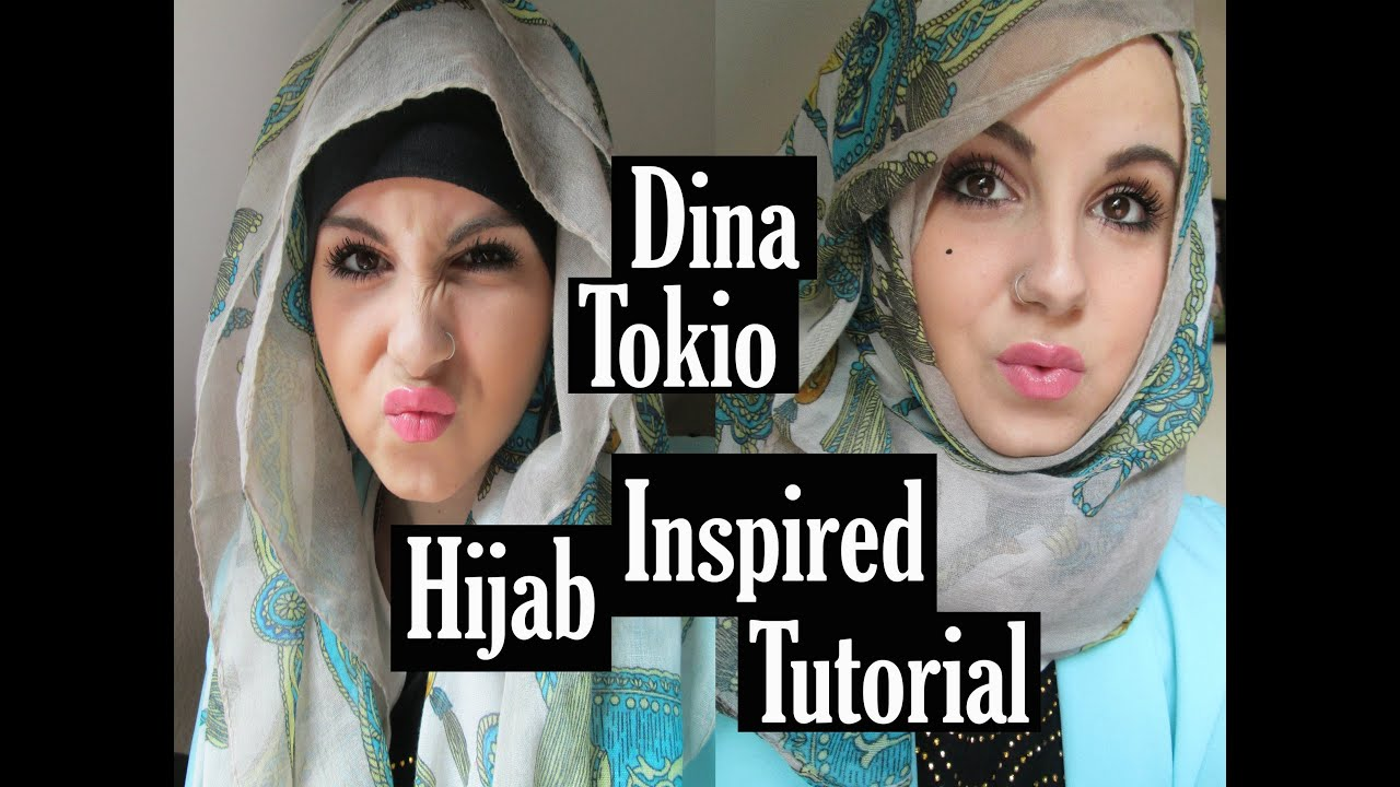Dinatokio Hijab Inspired Tutorial Aminachebbi YouTube