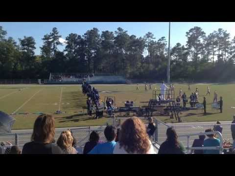 Walhalla High School Marching Band at Aynor Blue Jacket Fanfare 2013