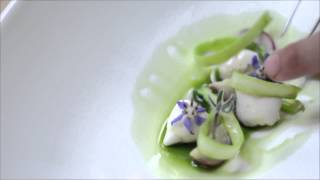 Germini Creamy Sorrel Velouté Encircles An Atoll Of Scallop With Oyster Foam