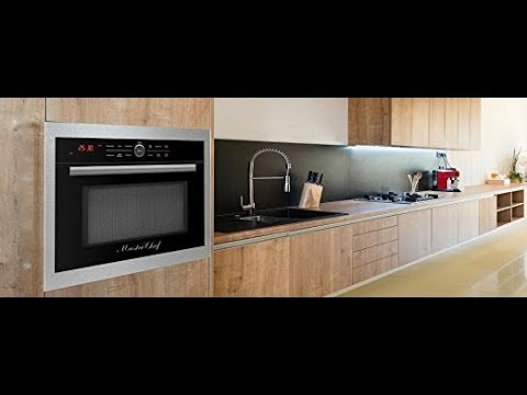 Master Chef 4 Ovens In 1 24 Built Convection Microwave With Drop Down Door Countertop Black