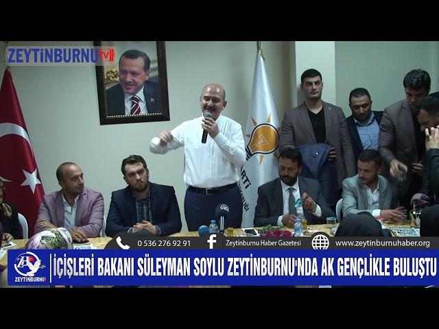 Bakan Soylu Zeytinburnu'nda Gençlerle Bir Araya Geldi