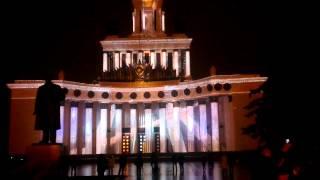 "Репетиция светового шоу ""Круг света"" 2014 на ВДНХ"