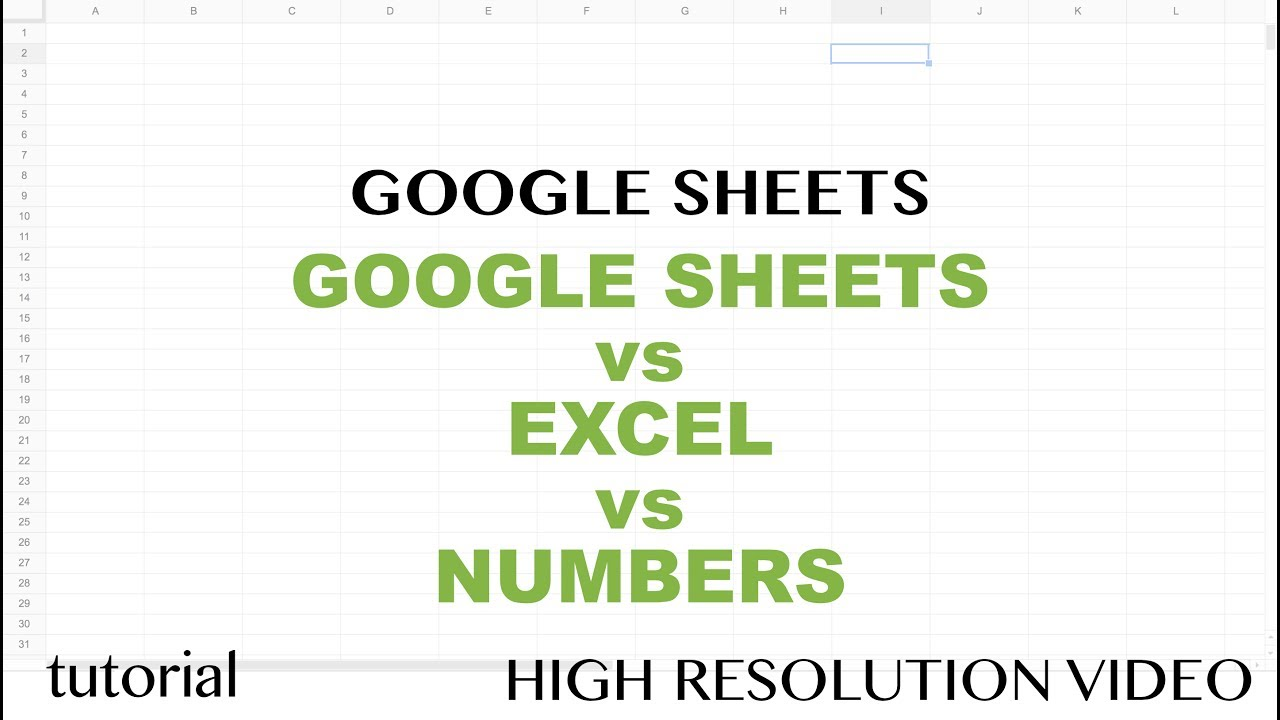 Google Sheets vs Excel vs Numbers   Which One is Better