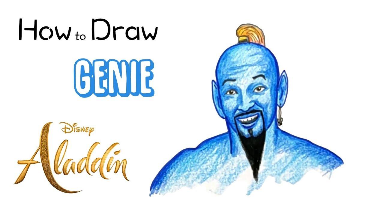 How to Draw the Genie from Aladdin (2019)