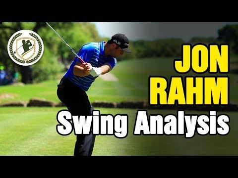 PGA TOUR JON RAHM GOLF SWING ANALYSIS + SWING DRILLS!