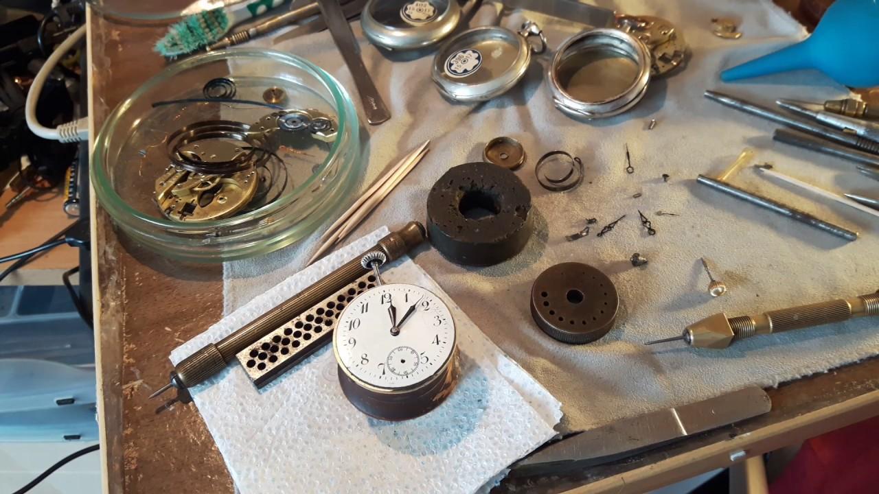 8609b828 Обзор ремонта старинных серебряных часов ( Galonne 800 , cylindergang )