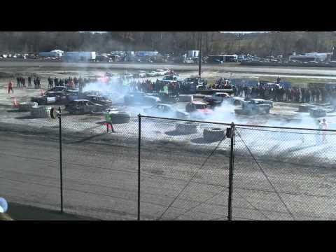 11/5/11-Black Rock Speedway-Youth Demolition Derby (Part 1)