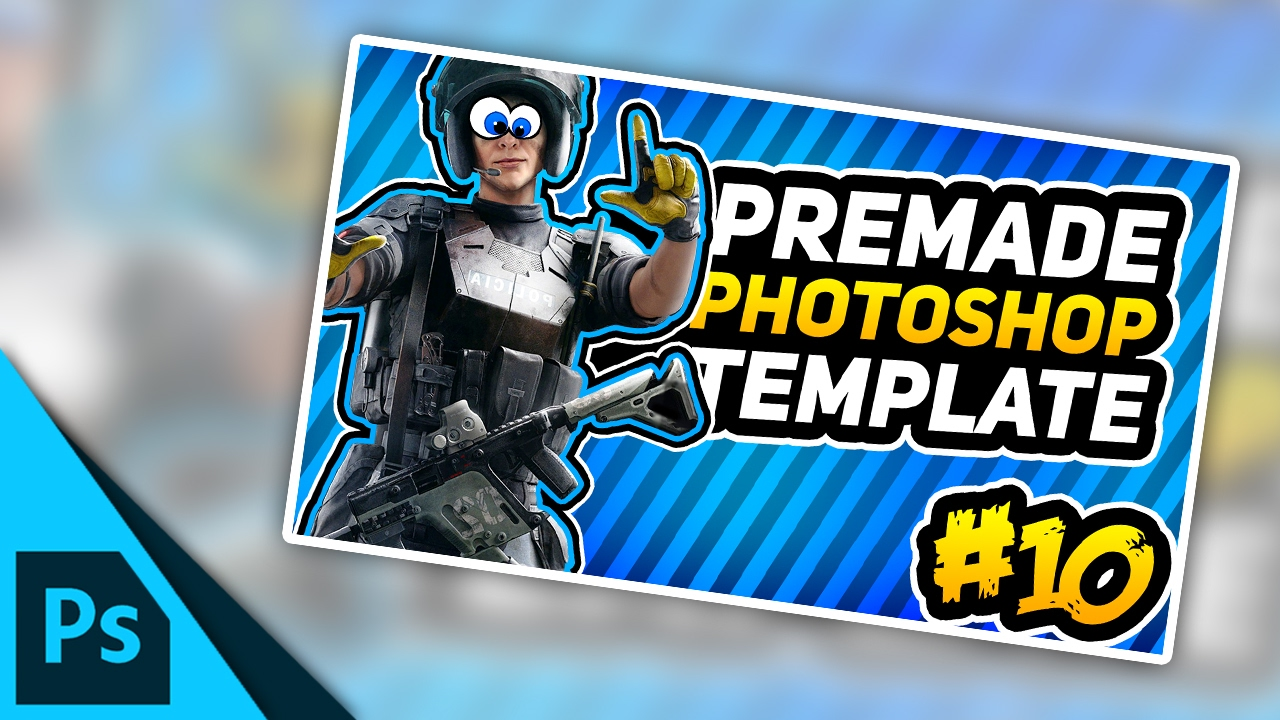 Funny Moments Thumbnail Free Photoshop Template Fully Customisable