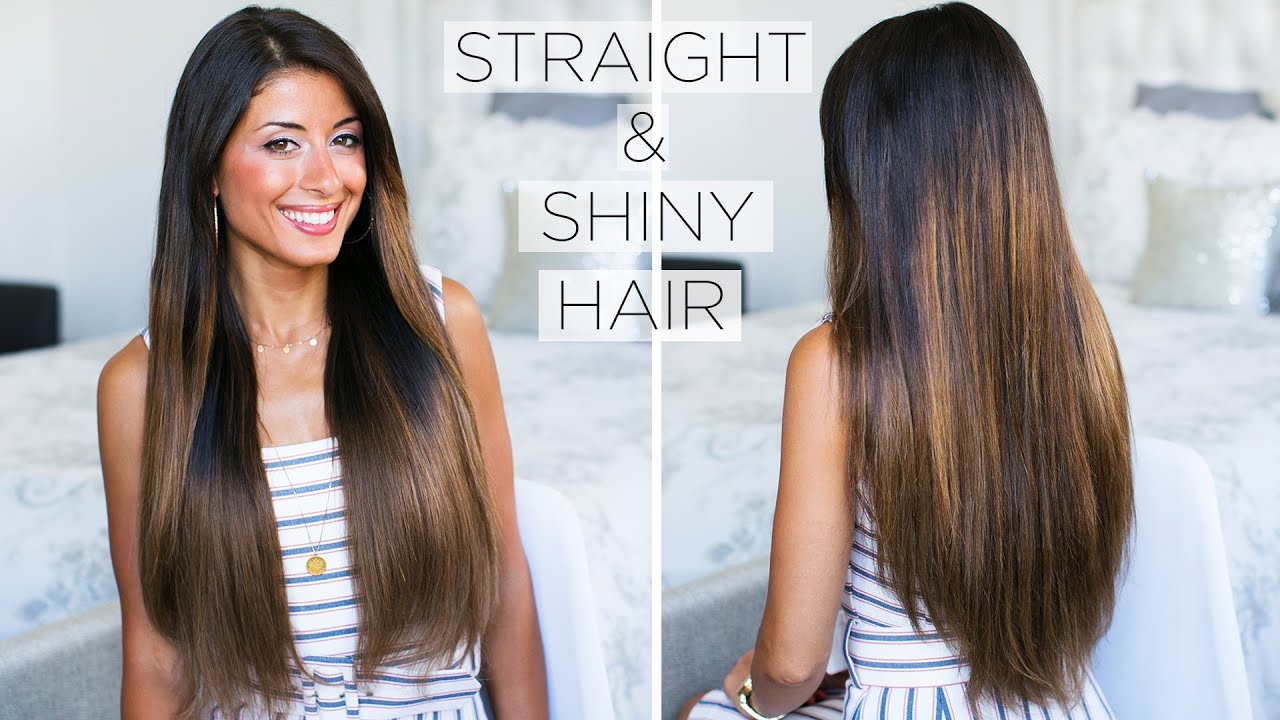 shiny straight hair