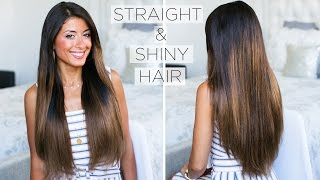 How To Get Shiny Straight Hair: My Straight Hair Routine